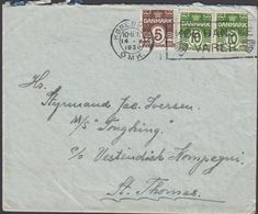 1930. M/S TONGKING C/o Vestindisk Kompani, St. Thomas. 5 + 2x 10 øre KØBENHAVN OMK 14... (MICHEL 118 + 120) - JF309901 - Denmark (West Indies)