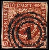 1854. 4 R.B.S. Chestnut. Thiele 3rd Print. 1. KØBENHAVN. (Michel 1IIc) - JF317043 - Oblitérés