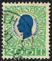 1905. Chr. IX. 20 Bit Blue/green. (Michel 31) - JF168180 - Denmark (West Indies)