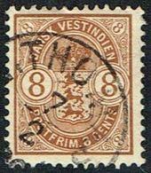 1903. Coat-of-Arms Type. 8 C. Brown. Missing Perf. (Michel 28) - JF168181 - Denmark (West Indies)