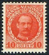 1907-1908. Frederik VIII. 10 Bit Red. (Michel 42) - JF168182 - Denmark (West Indies)