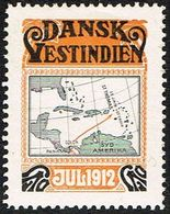 1912. Map. (Michel 1912) - JF168336 - Denmark (West Indies)