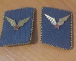 Ex Yugoslavia - Military - JNA -  Aviation Pilot - Officer Collar Tabs Insignia - Aviation