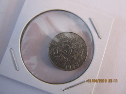 1928 Canada 5 Cent Coin - Canada
