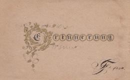 Erinnerung, Karte Von 1850 - Feiern & Feste