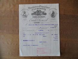 HAUBOURDIN EMILE BONZEL MANUFACTURE DE CHICOREE EXTRA A LA BERGERE KOKA DES CARMES FACTURE DU 13 FEVRIER 1933 - Alimentare