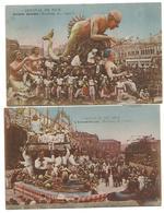 2 CARTES POSTALES CARNAVAL DE NICE , 1931 . - Carnaval