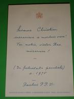 Anno 1975 BENEDIZIONE APOSTOLICA Papa PAOLO VI°/Maestro Altare Trebon.Resurrezione Cristo.Praga.Galleria Nazion. Santino - Santini