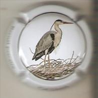 PLACA DE CAVA CAL LLUSIA DE UN PAJARO-BIRD  (CAPSULE) GARZA REAL (RARA) - Placas De Cava