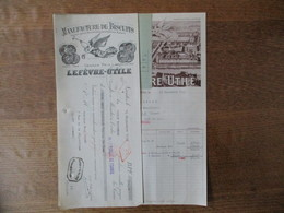 NANTES LEFEVRE-UTILE MANUFACTURE DE BISCUITS MARQUE LU FACTURE ET TRAITE DU 19 SEPTEMBRE 1933 - Alimentaire