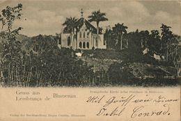 Brazil, BLUMENAU, Protestant Church And Rectory (1902) Postcard - Brazil