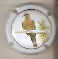 PLACA DE CAVA CAL LLUSIA DE UN PAJARO-BIRD  (CAPSULE) TORTOLA TURCA (RARA) - Placas De Cava