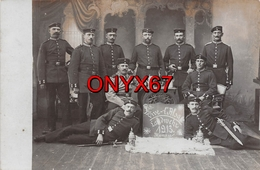 "Carte Postale Photo Militaire Allemand HANAU Am MAIN (Hesse-Deutschland) ""Vive L'Alsace"" Landwehr 1913-Chope Bière-Sabre - Hanau"