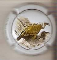 PLACA DE CAVA CAL LLUSIA DE UN PAJARO-BIRD  (CAPSULE) BUITRE COMÚN - Placas De Cava