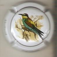 PLACA DE CAVA CAL LLUSIA DE UN PAJARO-BIRD  (CAPSULE) ABEJARUCO (RARA) - Placas De Cava