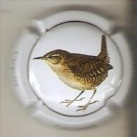 PLACA DE CAVA CAL LLUSIA DE UN PAJARO-BIRD  (CAPSULE) CHOCHIN (RARA) - Placas De Cava