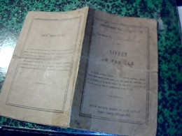 Document Genealogie Livret De Famille Mme Marthe   Brun Nee Trassagnac  Comune De Durtol - Buvards, Protège-cahiers Illustrés