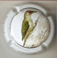 PLACA DE CAVA CAL LLUSIA DE UN PAJARO-BIRD  (CAPSULE)  CARPINTERO-PICOT VERD - Placas De Cava