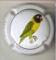 PLACA DE CAVA CAL LLUSIA DE UN PAJARO-BIRD  (CAPSULE) AGAPORNI-PARROT-LORO - Placas De Cava