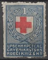 1922 SHS Yugoslavia Slovenia Croatia Red Cross Rotes Kreuz Croix Rouge Charity Label Cinderella Vignette - Rotes Kreuz