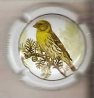 PLACA DE CAVA CAL LLUSIA DE UN PAJARO-BIRD  (CAPSULE) VERDECILLO - Placas De Cava