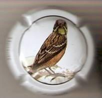 PLACA DE CAVA CAL LLUSIA DE UN PAJARO-BIRD  (CAPSULE) HORTOLA - Placas De Cava