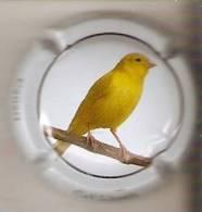PLACA DE CAVA CAL LLUSIA DE UN PAJARO-BIRD  (CAPSULE)  CANARIO - Placas De Cava