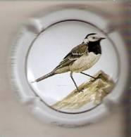 PLACA DE CAVA CAL LLUSIA DE UN PAJARO-BIRD  (CAPSULE)  LAVANDERA BLANCA - Placas De Cava