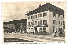 CARTE POSTALE DE DOMBRESSON ( CANTON NEUCHATEL ) , HOTEL DE COMMUNE - BAR ST. LOUIS . - NE Neuchatel