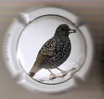 PLACA DE CAVA CAL LLUSIA DE UN PAJARO-BIRD  (CAPSULE) ESTORNINO - Placas De Cava