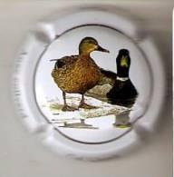 PLACA DE CAVA CAL LLUSIA DE UN PAJARO-BIRD  (CAPSULE) PATO DE CUELLO VERDE - Placas De Cava