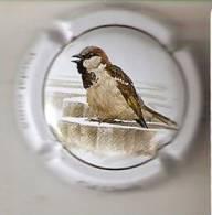 PLACA DE CAVA CAL LLUSIA DE UN PAJARO-BIRD  (CAPSULE) GORRION COMUN - Placas De Cava