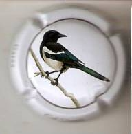 PLACA DE CAVA CAL LLUSIA DE UN PAJARO-BIRD  (CAPSULE) URRACA - Placas De Cava