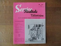 RADIOLA SERVICE TELEVISION N° 15 MAI SAISON 1957-58 - Fernsehen