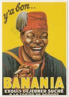 Publicité Sur Carte Postale - Banania Buste - Publicidad