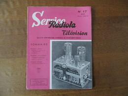 RADIOLA SERVICE TELEVISION N° 17 JUIN SAISON 1958-59 - Fernsehen