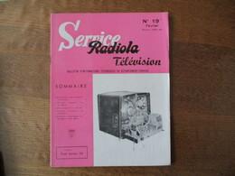 RADIOLA SERVICE TELEVISION N° 19 SEPTEMBRE SAISON 1959-60 - Fernsehen