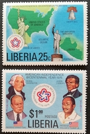 Liberia   1976 American Bicentennial And Visit Of Pres.William R. Tolbert,Jr. - Liberia