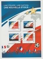 France 2018 FIFA World Cup Russia S/S 4 Stamps Adhesive Football Soccer Fußball WM Coupe Du Monde MNH** - Wereldkampioenschap