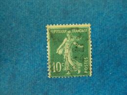 "1924-Semeuse Fond Plein, Timbre Oblitéré N° 188 B   "" 10c Vert ""  Cote  45    Net  15 - 1903-60 Semeuse Lignée"