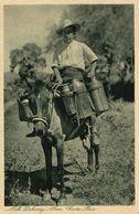 Costa Rica, C.A., Milk Delivery Man On Horseback (1920) Gran Hotel Postcard - Costa Rica