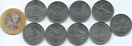 Complete Set Of 10 X 1 Rouble From 2014 - Includes Composite - Moldavie