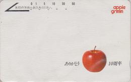 Télécarte Japon / 110-011 - Fruit  Pomme - Apple Fruits Japan Phonecard - Apfel Obst TK - 42 - Alimentation