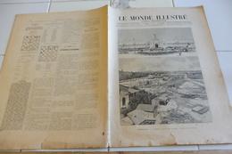 LE MONDE ILLUSTRE 29 AOUT 1896-TRAVAIL DES SALINES-DANGERS DE LA MONTAGNE-INCENDIE MONTPELLIER-DIEGO SUAREZ ANTSIRANE - Journaux - Quotidiens