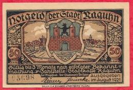 Allemagne 1 Notgeld De 50 Pfenning  Stadt Raguhn Dans L 'état  N °2755 - [ 3] 1918-1933 : Repubblica  Di Weimar