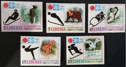 Liberia    1971  11th. Winter Olympic Games  LOT - Liberia