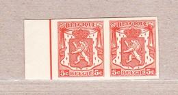 """1935 Nr 419** Zonder Scharnier,ongetand Duo, """"Klein Staatswapen"""".OBP 22 Euro. - 1935-1949 Petit Sceau De L'Etat"""
