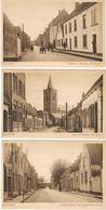 Lot 3 AK Naarden - Kazerne, Turfpoortstraat, Bussumerstraat Um 1910 - Naarden