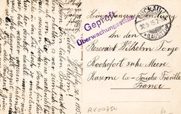 Carte Postale  -  PRISONNIER DE GUERRE ALLEMAND  à  Caserne La Fourche Fréville ROCHEFORT SUR MER ( Charente Maritime ) - Oorlog 1914-18