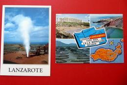 Lanzarote - Atlantischer Ozean - Spanien - Landkarte - Vulkan - Nationalpark Timanfaya - Montañas Del Fuego - Lanzarote